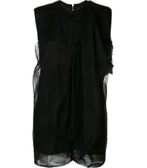 rick owens shield dress - black