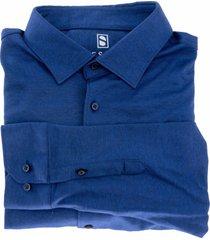 desoto kent overhemd kobaltblauw