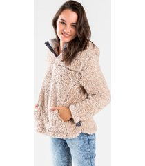 libbie hooded wubby pullover - natural