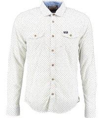 petrol stevig overhemd antique white