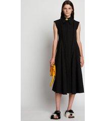 proenza schouler raw edge tweed sleeveless dress black 12
