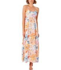 rip curl juniors' bloom floral-print maxi dress