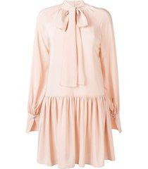 stella mccartney drop waist dress - pink