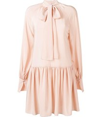 stella mccartney drop waist dress - pink
