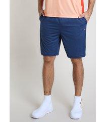 bermuda masculina esportiva ace com cordão e bolsos azul marinho
