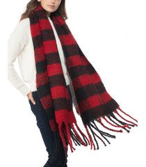 inc buffalo check blanket scarf, created for macy's