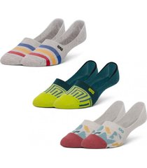 calcetin invisible tripack multicolor pair of thieves