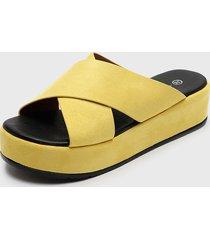 sandalia amarillo agua de coco