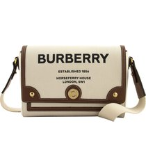 burberry note - horseferry print canvas crossbody bag