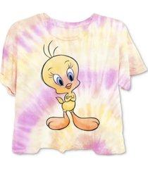 warner brothers juniors' tweety tie-dyed t-shirt