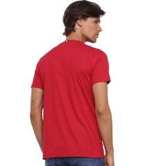 camiseta tommy hilfiger corp th vermelha