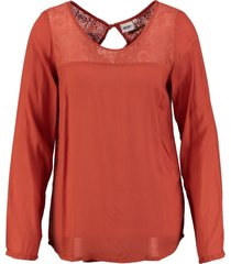 object viscose blouse burnt brick