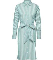 chiara striped shirt dress jurk knielengte blauw morris lady