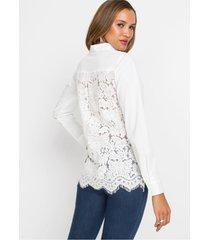 blouse met gehaakte kant