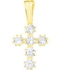 ciondolo holy oro giallo e cubic zirconia per donna