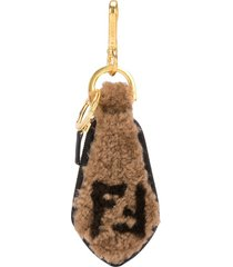 shearling key chain