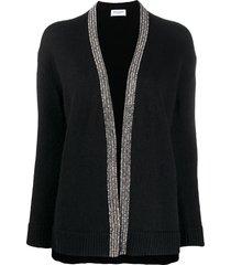 saint laurent bead-embellished cardigan - black
