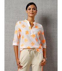 blouse amy vermont wit::neonoranje