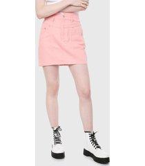 falda palo rosa forever 21