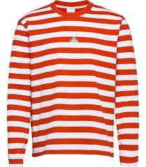 hanger striped longsleeve t-shirts long-sleeved röd hanger by holzweiler