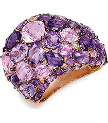 14k strawberry gold® cotton candy amethyst®, amethyst ombre® & nude diamonds dome ring