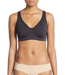 natori women's underwire sports bra - black - size 32 c
