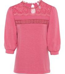 maglia con pizzo e maniche a palloncino (rosa) - rainbow