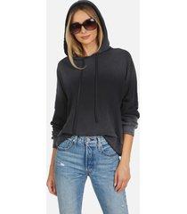 gower le black ombre crop hoodie - black/ombre l