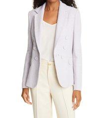 women's helene berman carine cotton blend jacket, size x-large - purple