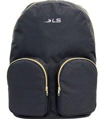 mochila ls bolsas mo3137 com 3 divisões preto