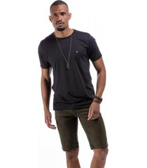 t-shirt masculina flame caribe preta