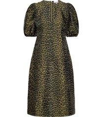 crispy jacquard jurk knielengte groen ganni