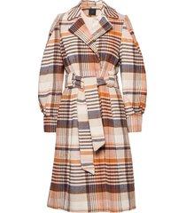 yasbicca wool coat yllerock rock orange yas