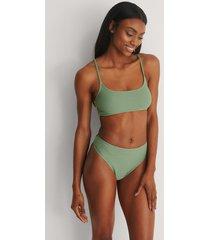 na-kd swimwear recycled bikiniunderdel med hög midja - green