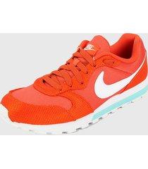 tenis lifestyle naranja-blanco nike md runner 2 se