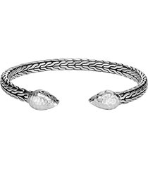 'classic chain' hammered sterling silver cuff