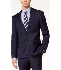 dkny men's modern-fit stretch textured suit jacket