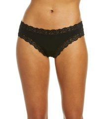 women's fleur't iconic thong, size medium - black