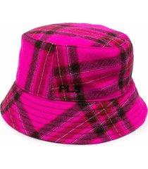 philosophy di lorenzo serafini tartan pink wool hat