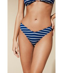 calzedonia natalie high-leg brazilian bikini bottoms woman blue size s/m