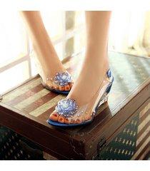 mujer sandalias de cuña con sandalias abiertas y sandalias de verano