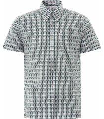 archive piper print shirt - dark green 59085-651