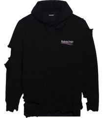 balenciaga destroyed hoodie