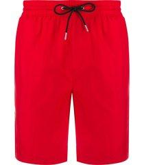 burberry icon stripe swim shorts - red