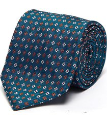 jacquard dual-toned floral print silk tie