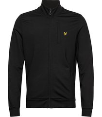 smart track top sweat-shirt trui zwart lyle & scott