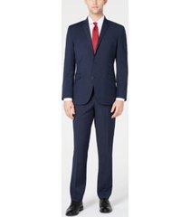 kenneth cole reaction men's ready flex slim-fit stretch plaid suits