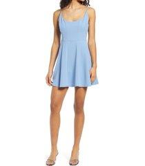 women's jump apparel scoop back sleeveless skater dress, size 11/12 - blue