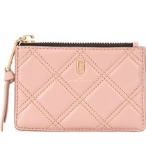 marc jacobs the quilted softshot top zip multi wallet - neutrals