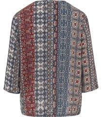 blouse met 3/4 mouwen van peter hahn multicolour